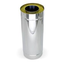 Дымоход-Сэндвич нерж.+оцинков.сталь, D-200х115 мм. L- 1,0 м. толщина 0,5 мм.