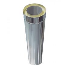 Дымоход Сэндвич нерж.+оцинк. сталь D-150х230 мм. L- 0,5 м. толщина 0,5 мм