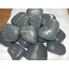"""Камни. Серпентинит. """"Черный принц"""". Шлифованный.Средняя фракция. 10 кг."""