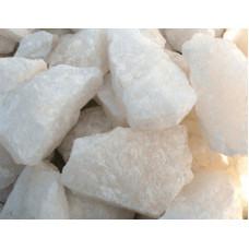 """Камни. Белый кварц """"Жаркий лед"""" обвалованный. 10 кг."""
