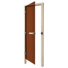 SAWO Дверь 8/19, бронза, левая, кедр, 731-3SGD-L