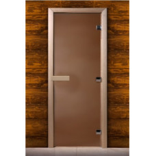 Дверь MAESTRO WOODS стекло БРОНЗА 0.7x1.9 коробка ольха