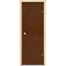 Дверь JUST A DOOR стекло БРОНЗА МАТОВАЯ 0.7x1.9 коробка хвоя