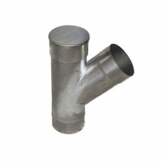 Тройник D-120 мм., нерж. сталь, угол 135 град., толщина 1,0 мм.