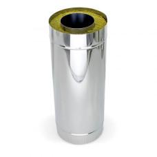Дымоход-Сэндвич нерж.+нерж. сталь, D-200х115 мм. L- 1,0 м. толщина 0,5 мм.