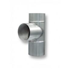 Тройник D-120 мм., нерж. сталь, угол 90 град., толщина 1,0 мм.