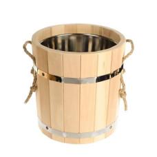 Запарник для бани с нержавеющей вставкой СА-01, липа, 12 л.