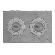 Плита чугунная под казан двухконфорочная,П2-1 585х340 мм.
