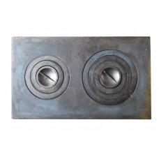 Плита чугунная под казан двухконфорочная,П2-3 710х410 мм.