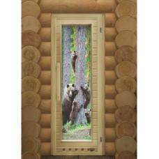 Дверь DoorWood Элит Мишки с Фотопечатью 1850х730