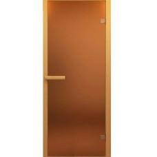 Дверь JUST A DOOR стекло БРОНЗА 0.7x1.9 коробка хвоя (ручка алюминий)
