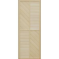 """Дверь банная из липы """"ДГ-1"""" (сорт B) коробка сосна 1800*700"""
