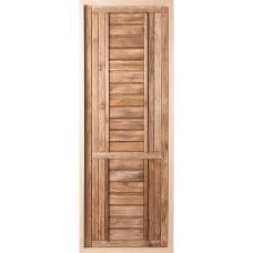 Дверь банная глухая состаренная 1800х700