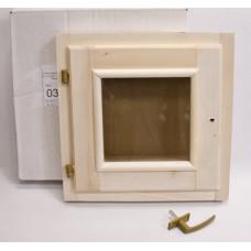Оконный блок 0,3х0,3 липа (стеклопакет)