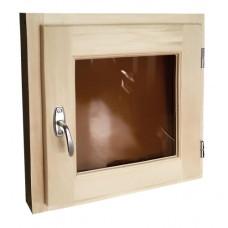 Оконный блок со стеклопакетом и фурнитурой липа 35x35 см