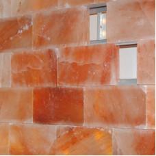 Соляная стена, скрытый бесклеевой монтаж, шлифованная плитка 2,5 см (1 кв. м)