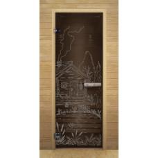 """Дверь Бронза """"БАНЬКА"""" 1900х700мм (кор. осина) 8 мм."""