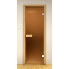 Дверь Бронза 1900х700мм (8мм) коробка (Осина)