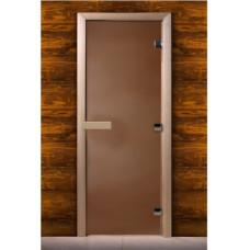Дверь MAESTRO WOODS стекло БРОНЗА 0.6x1.9 коробка ольха