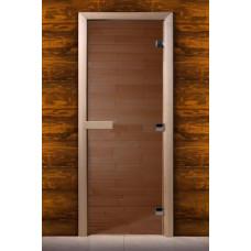 Дверь MAESTRO WOODS стекло БРОНЗА 0.8x1.9 коробка ольха