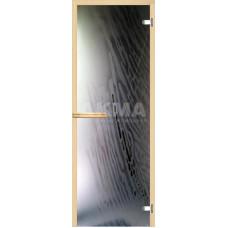 """Дверь стеклянная, АКМА, """"Ветер"""" арт-серия с фьюзингом, 1900x700, стекло 8 мм."""