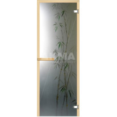 """Дверь стеклянная, АКМА, """"Бамбук"""" арт-серия с фьюзингом, 1900x700, стекло 8 мм."""