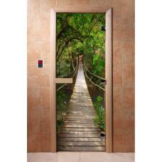 """Дверь с Фотопечатью АКМА """"Мостик"""", 1900x700, стекло 8 мм."""