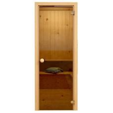 Дверь JUST A DOOR стекло БРОНЗА 0.7x1.9 коробка хвоя